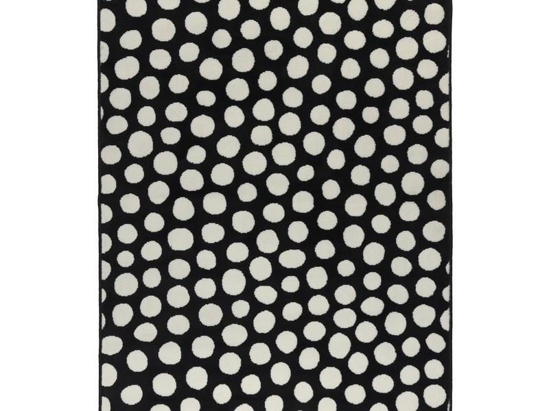 Black And White Polka Dot Rug