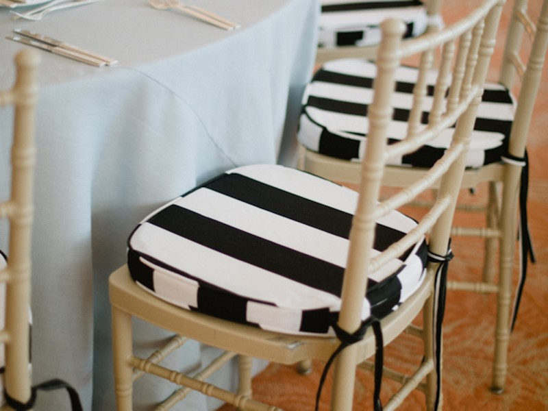 Black And White Striped Chair Cushions