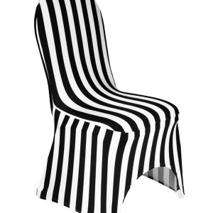 Black And White Striped Chair Slipcover