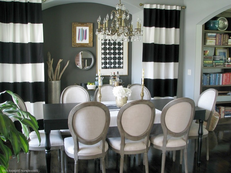 Black And White Striped Dining Room Chairs
