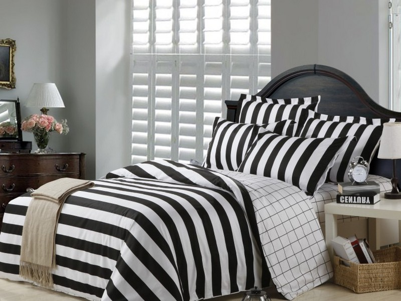 Black And White Striped Duvet Cover Full