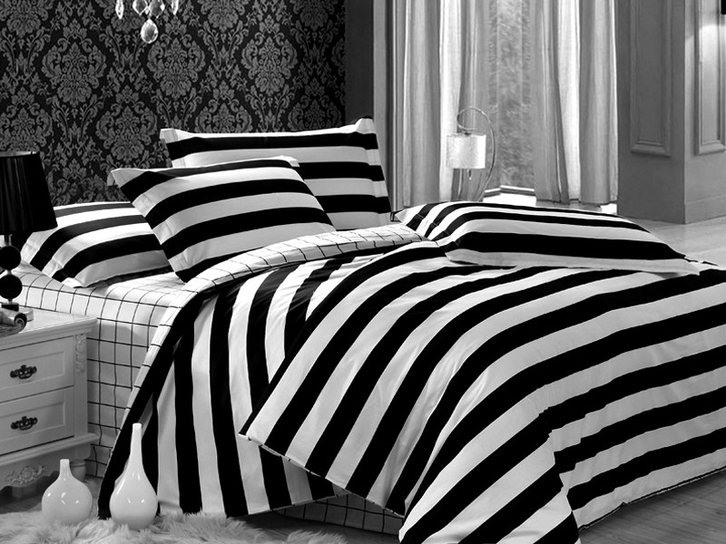 Black And White Striped Duvet Cover King