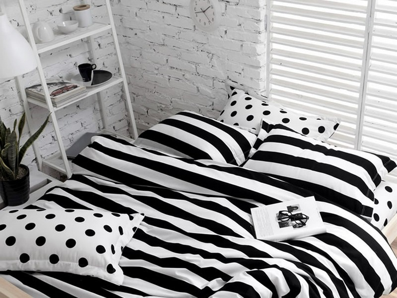 Black And White Striped Duvet Cover Nz