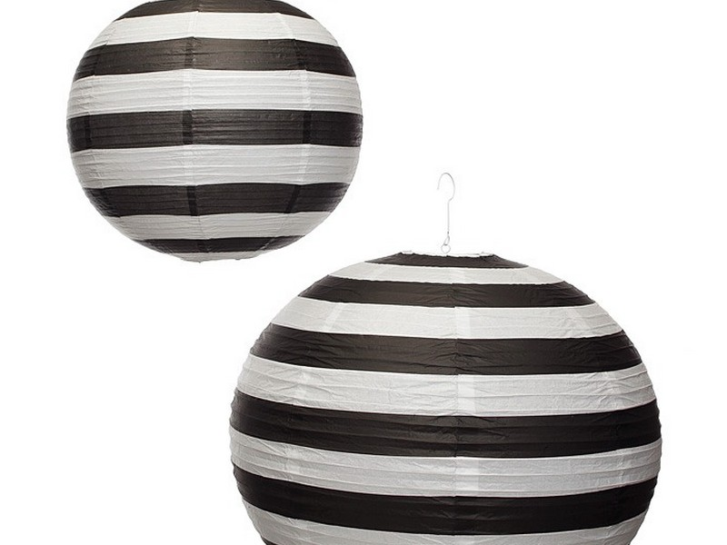 Black And White Striped Paper Lanterns