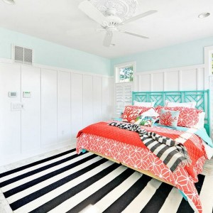 Black And White Striped Rug Bedroom