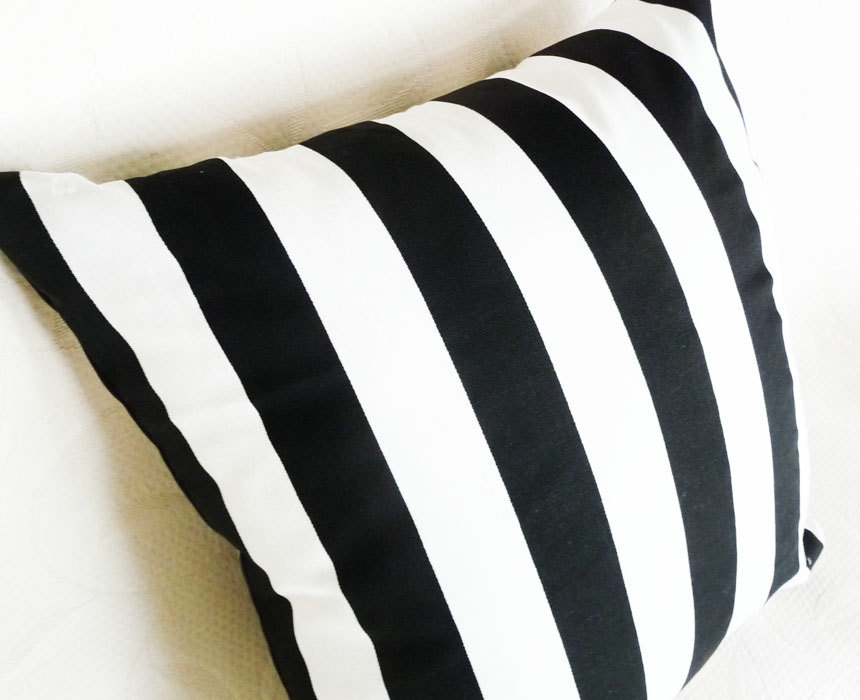 Black And White Striped Throw Pillows