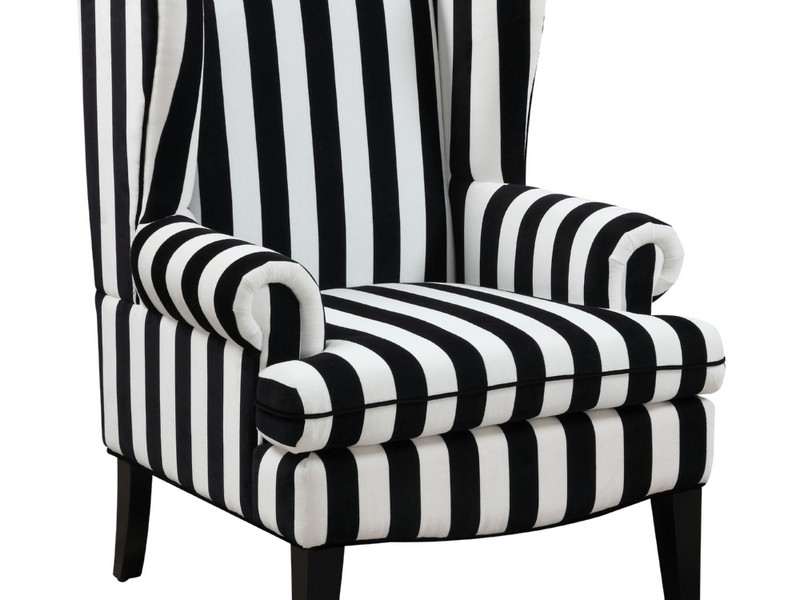 Black And White Wingback Chair