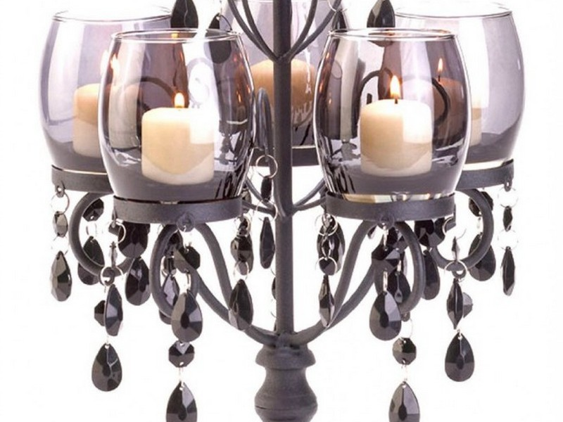 Black Chandelier Candle Holders