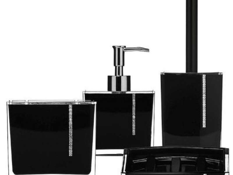 Black Crystal Bathroom Accessories