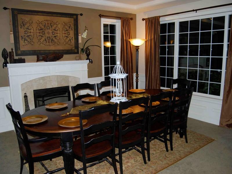 Black Distressed Dining Room Table