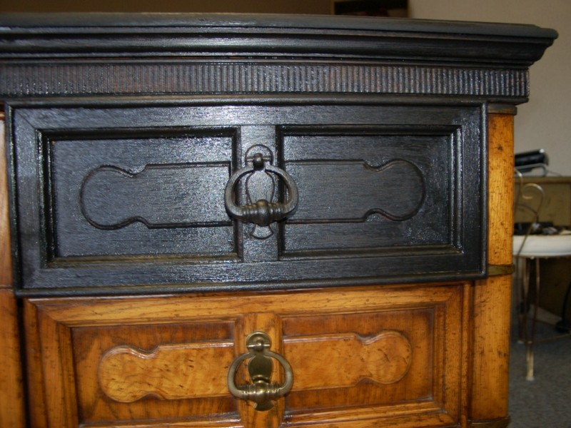Black Distressed Dresser Diy