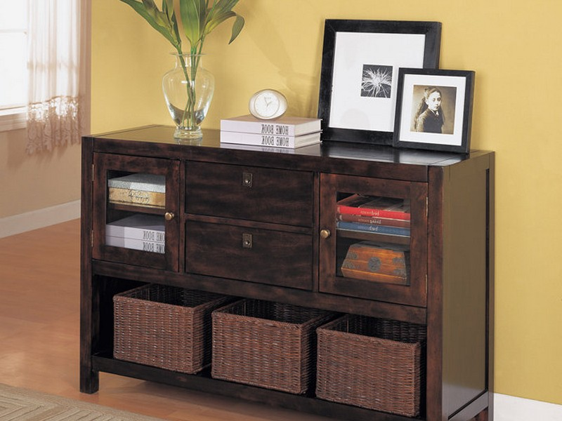 Black Entryway Table With Storage
