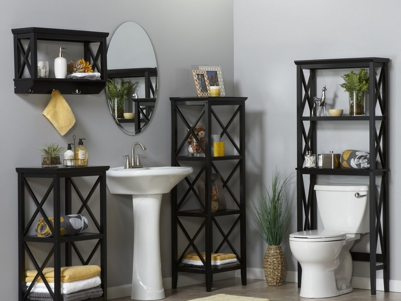 Black Etagere Bathroom