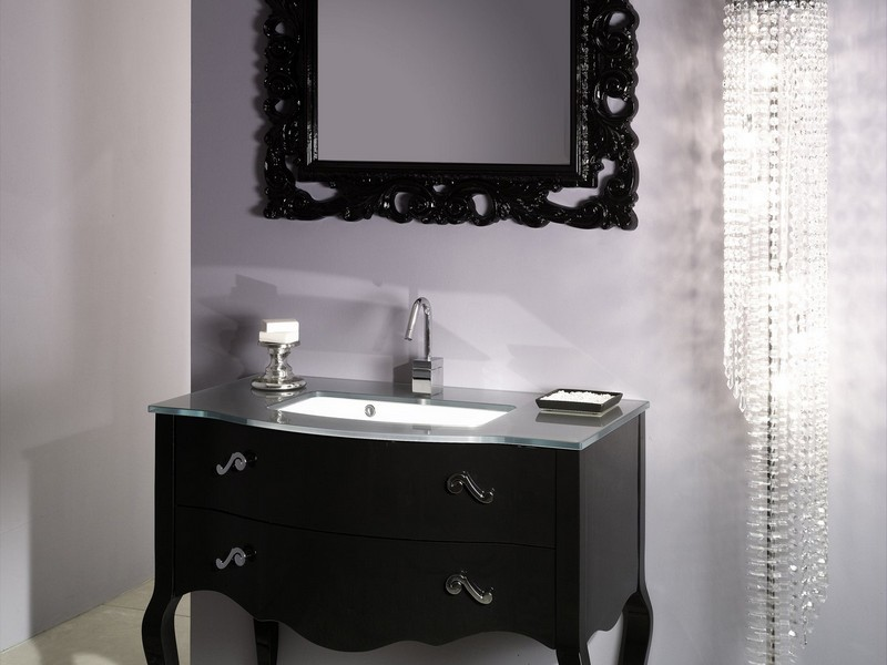 Black Frame Bathroom Mirror