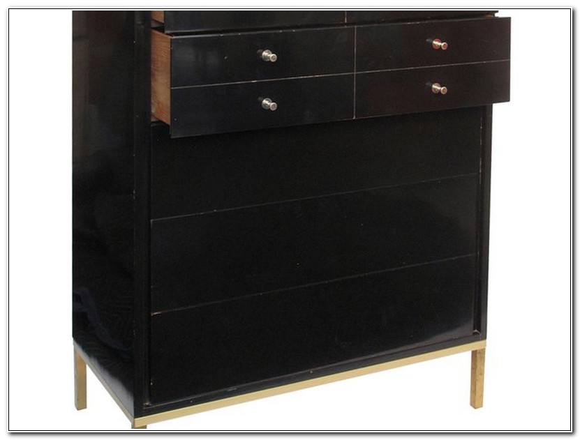 Black Highboy Dresser