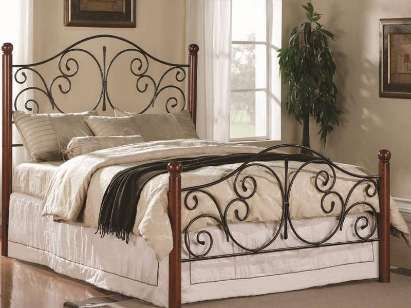 Black Iron Headboard Queen