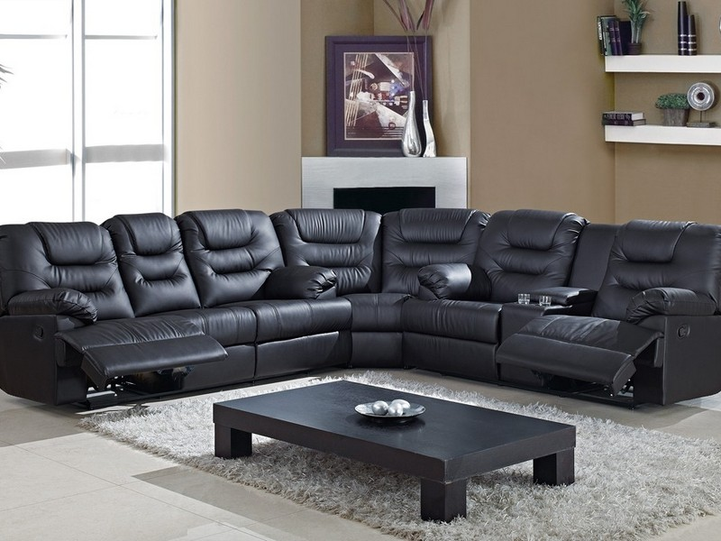 Black Leather Couch Recliner