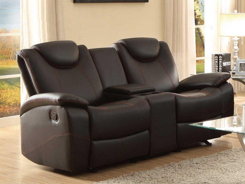 Black Leather Recliner Sofas