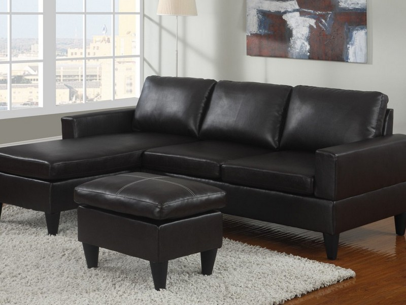 Black Leather Sectional Couches