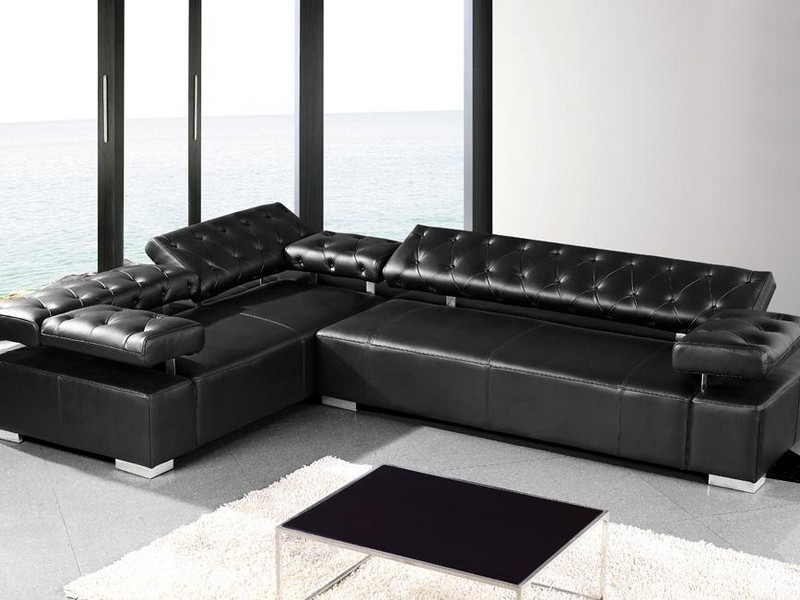 Black Leather Sectionals