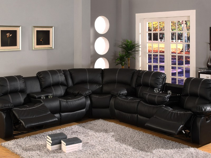 Black Leather Sofa Recliner