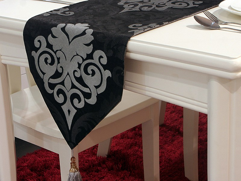 Black Leather Table Runner