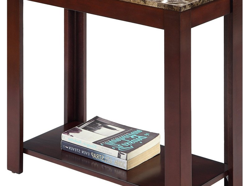 Black Marble Top End Tables