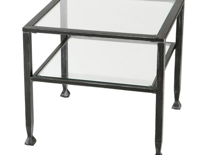 Black Metal And Glass Coffee Tables