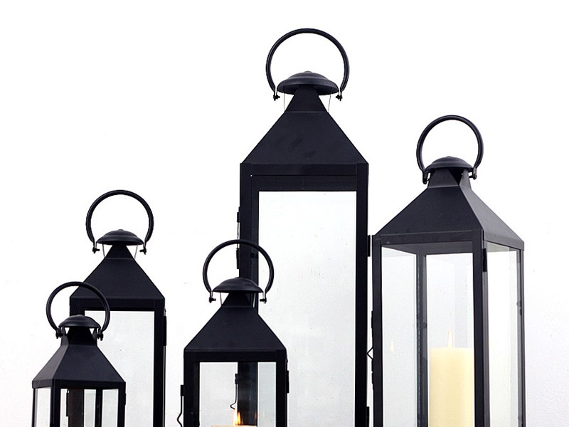 Black Metal Lanterns Cheap