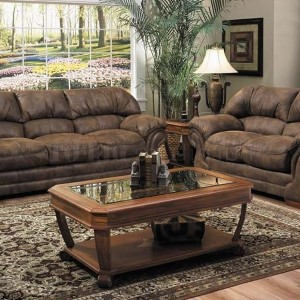 Black Microfiber Reclining Sofa And Loveseat