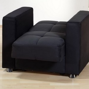 Black Microfiber Sectional