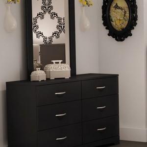 Black Mirrored Dresser