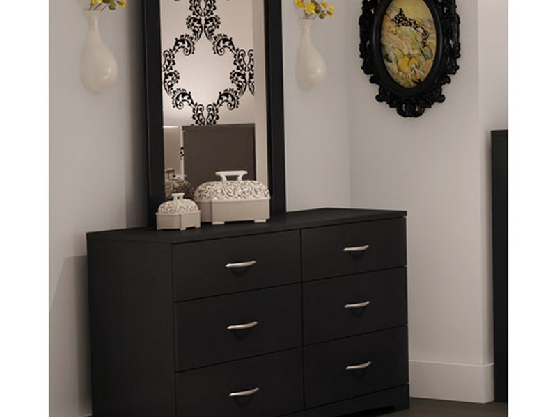 Black Mirrored Dresser