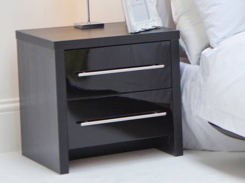 Black Modern Nightstand