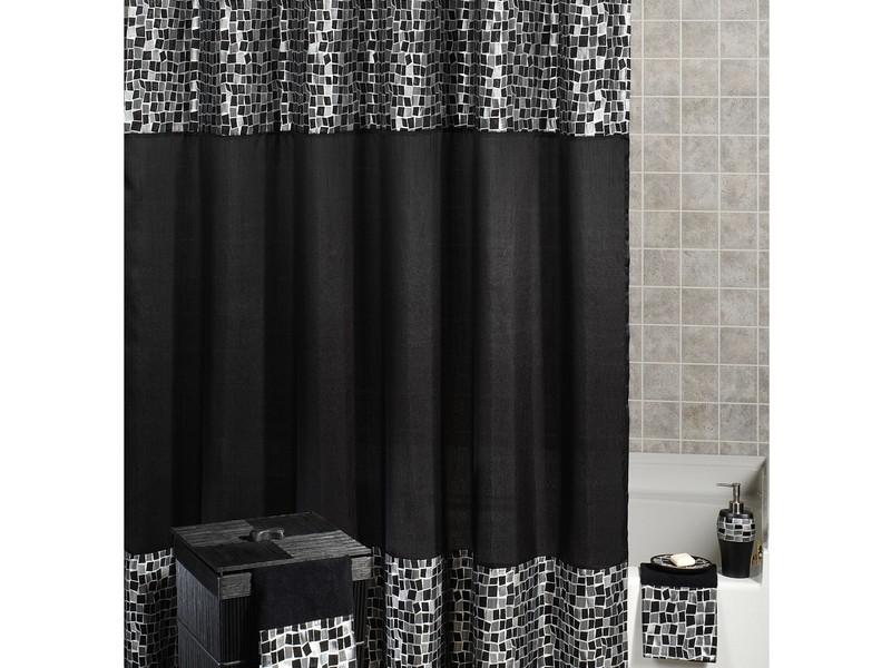 Black Mosaic Bathroom Accessories