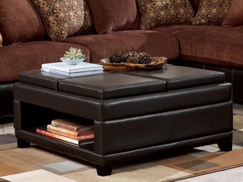Black Ottoman Coffee Table With Storage