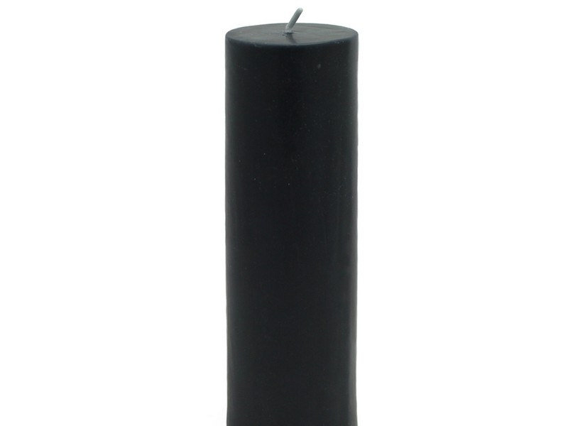 Black Pillar Candles Bulk