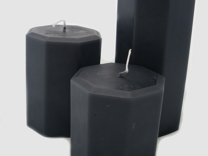 Black Pillar Candles Uk