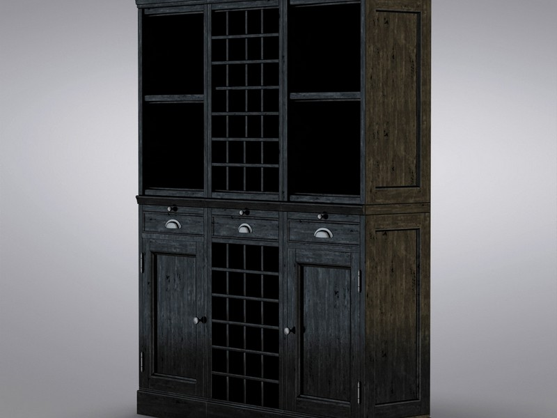 Black Pottery Barn Armoire