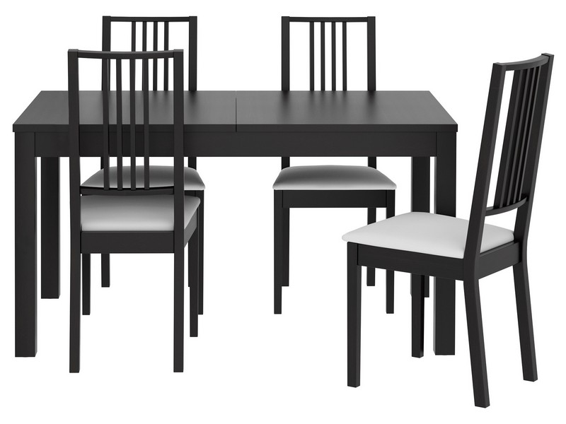 Black Pub Table And Chairs
