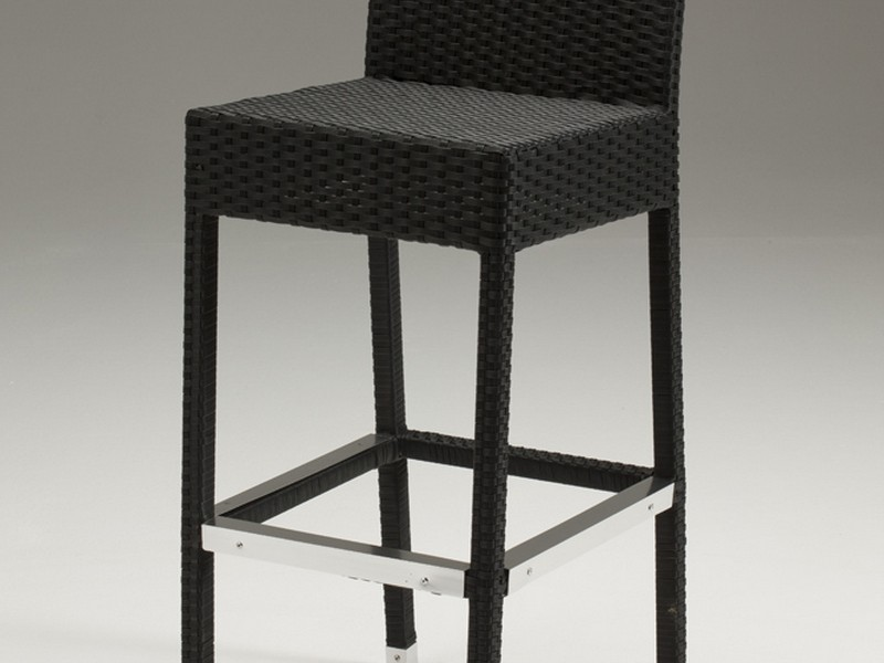 Black Rattan Bar Stools