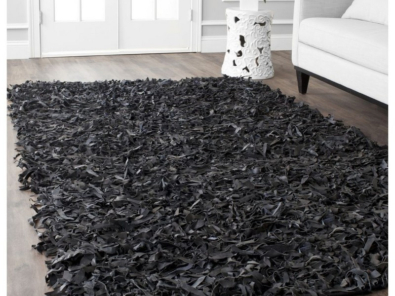 Black Shag Area Rug