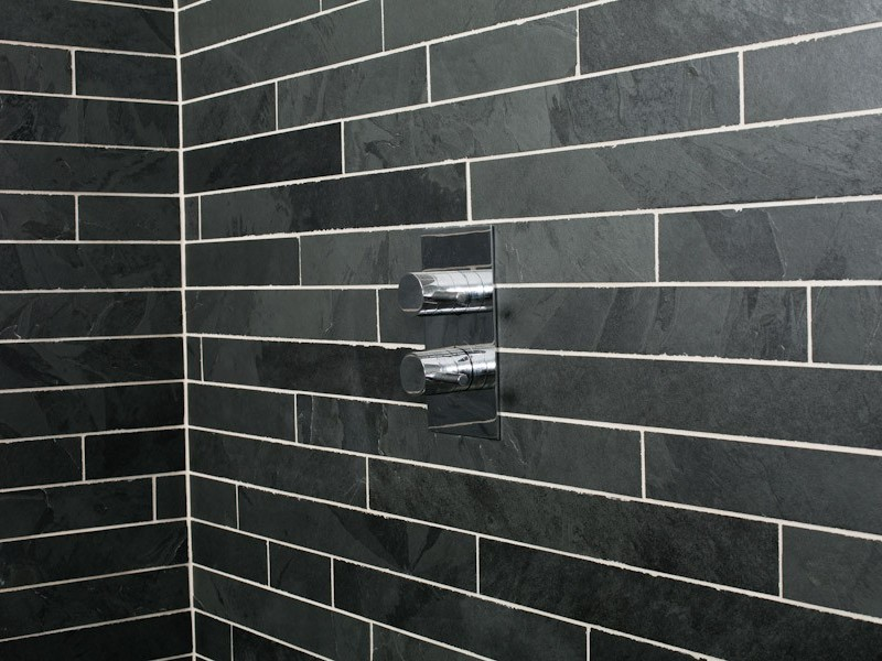 Black Slate Tile Bathroom