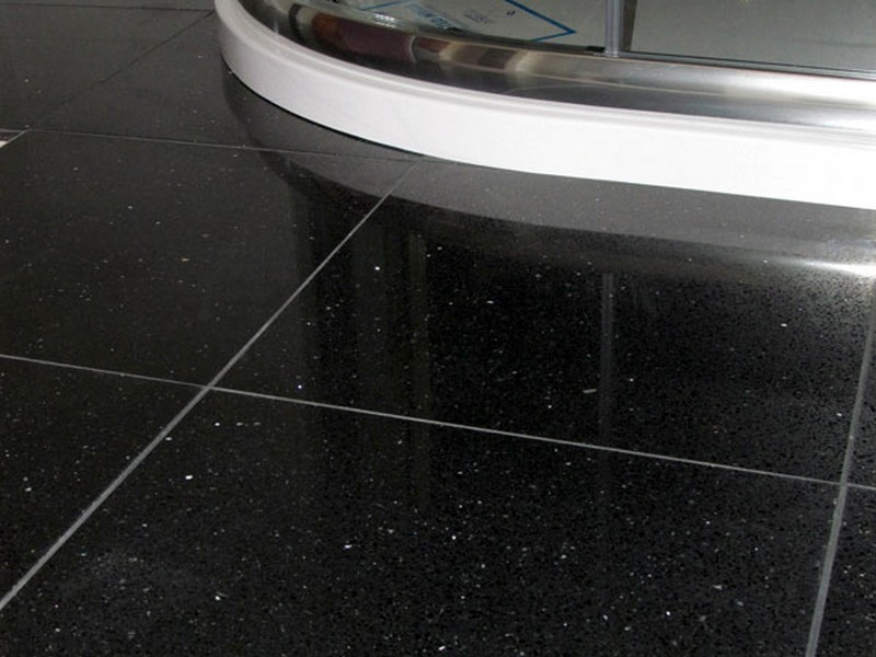 Black Sparkle Floor Tiles For Bathrooms