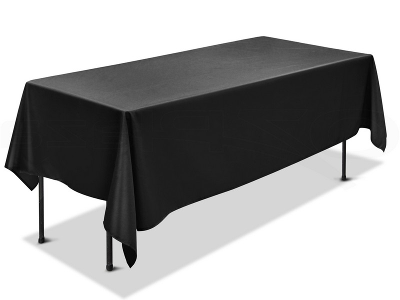 Black Trestle Table Cloths