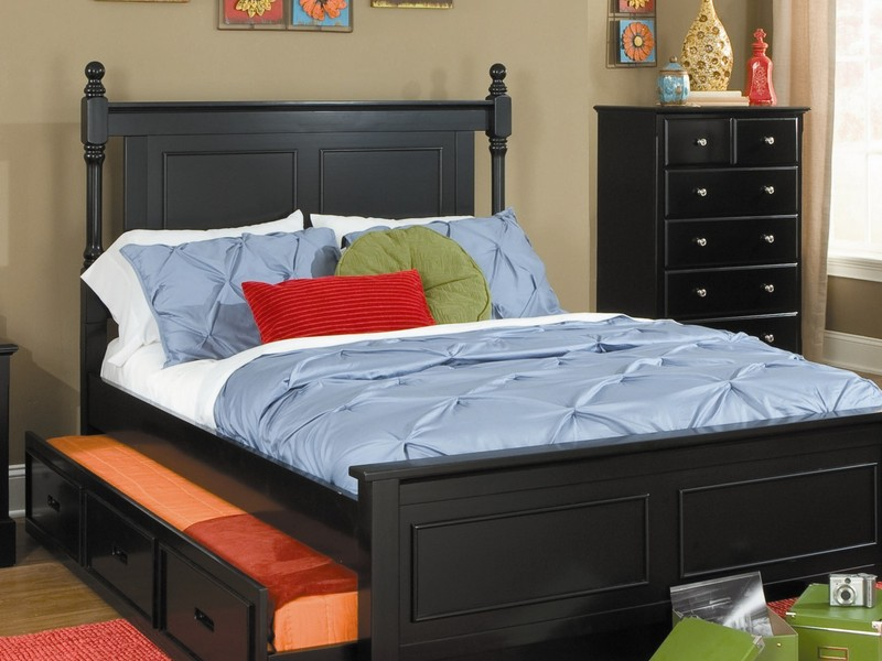 Black Twin Bed With Trundle