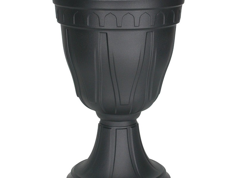 Black Urn Planters Fiberglass