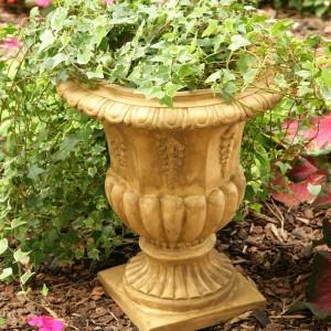Black Urn Planters Resin