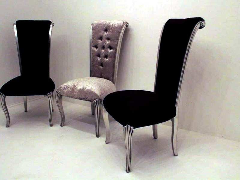 Black Velvet Dining Room Chairs