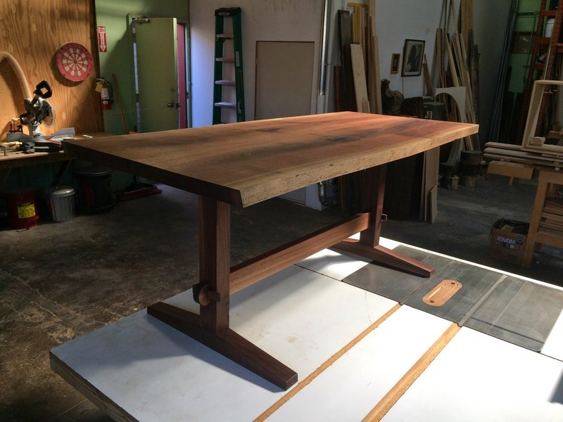 Black Walnut Trestle Table